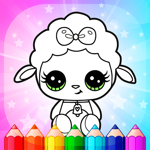 Flower Magic Color-kids coloring book with animals  3.9