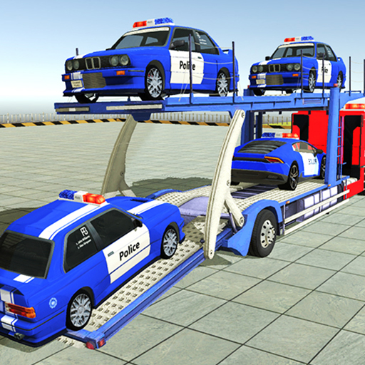 Police Car Transporter 3d: City Truck Driving Game 3.8.9