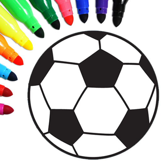 Football coloring book game  16.2.6