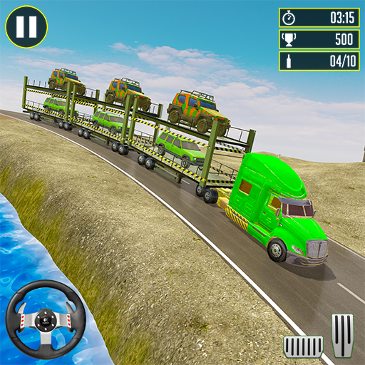 Off-Road Army Vehicle Transporter Truck 1.8